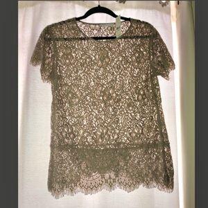 NWT NY&C lace shirt